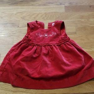 Gap 6-12m Red dress